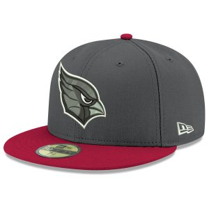 Men's Arizona Cardinals New Era Heathered Gray/Cardinal Shader Melt 2 59FIFTY Fitted Hat